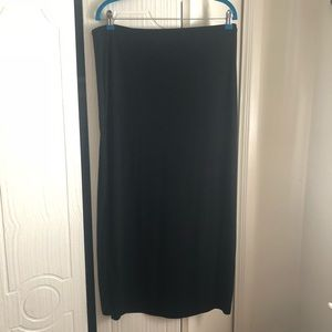 Merona Long black skirt size